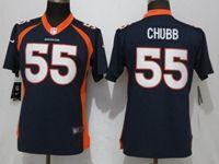 Women Nfl Denver Broncos #55 Bradley Chubb Blue Vapor Untouchable Limited Player Jersey