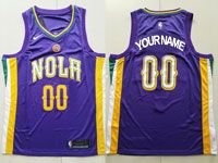 Mens Nike Nba New Orleans Pelicans Custom Made Purple City Edition Swingman Jersey