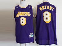 Mens Nba Los Angeles Lakers #8 Bryant Purple Hardwood Classics Jersey