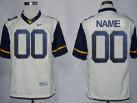 Mens Ncaa Nfl Virginia Mountaineers Custom Made White Game Jersey