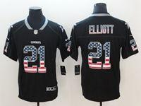 Mens Dallas Cowboys #21 Ezekiel Elliott 2018 Usa Flag Fashion Black Vapor Untouchable Limited Jersey