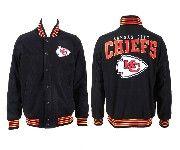 Mens Nfl Kansas City Chiefs Black Heavyweight Embroidered Jacket