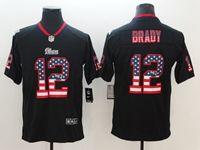 Mens New England Patriots #12 Tom Brady 2018 Usa Flag Fashion Black Vapor Untouchable Limited Jersey