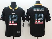 Mens Green Bay Packers #12 Aaron Rodgers 2018 Usa Flag Fashion Black Vapor Untouchable Limited Jersey
