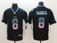 Mens Tennessee Titans #8 Marcus Mariota 2018 Usa Flag Fashion Black Vapor Untouchable Limited Jersey