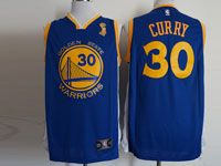 Mens Nba Golden State Warriors #30 Stephen Curry Finals Champions Blue Jersey