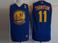 Mens Nba Golden State Warriors #11 Klay Thompson Finals Champions Blue Jersey