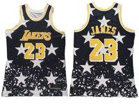 Mens Nba Los Angeles Lakers #23 Lebron James Independent Daily Swingman Hardwood Classics Black Jersey