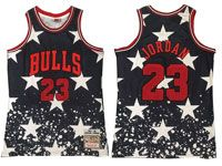 Mens Nba Chicago Bulls #23 Michael Jordan Independent Daily Swingman Hardwood Classics Black Jersey