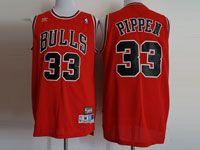 Mens Nba Chicago Bulls #33 Pippen Red Adidas Swingman Hardwood Classics Mesh Jersey