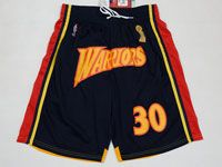 Mens Nba Golden State Warriors #30 Stephen Curry Finals Champions Black Shorts