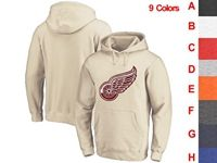 Mens Nhl Detroit Red Wings 9 Colors One Front Pocket Hoodie Jersey