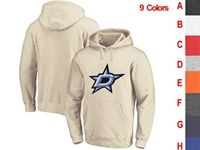 Mens Nhl Dallas Stars 9 Colors One Front Pocket Hoodie Jersey
