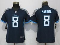 Women Tennessee Titans #8 Marcus Mariota Navy Blue 2018 Vapor Untouchable Limited Player Jersey