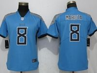 Women Tennessee Titans #8 Marcus Mariota Light Blue 2018 Vapor Untouchable Limited Player Jersey