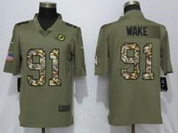 Mens Nfl Miami Dolphins #91 Cameron Wake Olive Camo Carson 2017 Salute To Service Limited Jersey