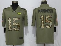Mens Nfl Kansas City Chiefs #15 Patrick Mahomes Ii Olive Camo Carson 2017 Salute To Service Limited Jersey