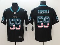 Mens Carolina Panthers #59 Luke Kuechly 2018 Usa Flag Fashion Black Vapor Untouchable Limited Jersey