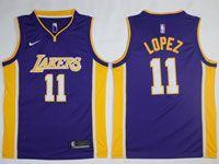 Mens Nba Los Angeles Lakers #11 Brook Lopez Nike Swingman Purple Jersey