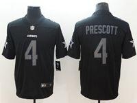 Mens Nfl Dallas Cowboys #4 Dak Prescott 2018 Fashion Impact Black Vapor Untouchable Limited Jersey