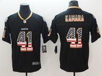 Mens New Orleans Saints #41 Alvin Kamara 2018 Usa Flag Fashion Black Vapor Untouchable Limited Jersey