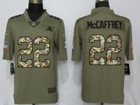 Mens Nfl Carolina Panthers #22 Christian Mccaffrey Olive Camo Carson 2017 Salute To Service Limited Jersey