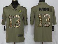 Mens Nfl Miami Dolphins #13 Dan Marino Olive Camo Carson 2017 Salute To Service Limited Jersey