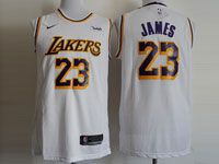 Mens Nba Los Angeles Lakers #23 Lebron James Nike 2018-19 Swingman White Jersey