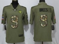 Mens Nfl New Orleans Saints #9 Drew Brees Olive Camo Carson 2017 Salute To Service Limited Jersey