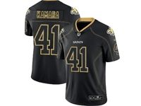 Mens Nfl New Orleans Saints #41 Alvin Kamara 2018 Lights Out Black Vapor Untouchable Limited Jersey