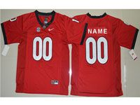 Mens Youth Ncaa Nfl Georgia Bulldogs Custom Made Red Jersey