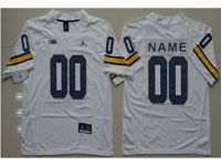 Mens Ncaa Nfl Michigan Wolverines Custom Made White Limited Jersey