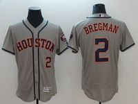 Mens Mlb Houston Astros #2 Alex Bregman 2018 Gray Flex Base Jersey