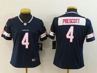 Women Dallas Cowboys #4 Dak Prescott Blue Pink Name Vapor Untouchable Limited Jersey