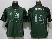 Women New York Jets #14 Sam Darnold Drift Fashion Green Elite Nike Jersey