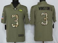 Mens Nfl Tampa Bay Buccaneers #3 Jameis Winston Olive Camo Carson 2017 Salute To Service Limited Jersey