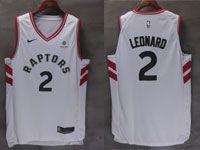 Mens Nba Toronto Raptors #2 Kawhi Leonard 2018-2019 White Nike Swingman Jersey