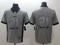 Mens Nike Nfl Dallas Cowboys #21 Ezekiel Elliott Drift Fashion Gray Limited Player Jersey