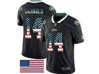 Mens Nfl New York Jets #14 Sam Darnold 2018 Usa Flag Fashion Black Vapor Untouchable Limited Jersey