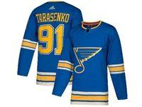 Mens Nhl St.louis Blues #91 Vladimir Tarasenko Adidas Blue Player Jersey