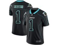 Mens Nfl Carolina Panthers #1 Cam Newton 2018 Lights Out Black Vapor Untouchable Limited Jersey