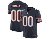 Mens Women Youth Nfl Chicago Bears Blue Custom Made Vapor Untouchable Limited Player Jersey
