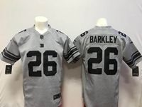 Mens Nike Nfl New York Giants #26 Saquon Barkley Gray Limited Jersey