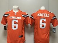 Mens Nfl Cleveland Browns #6 Baker Mayfield Nike Orange Game Jersey