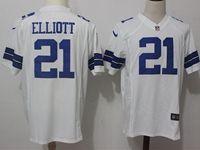 Mens Nfl Dallas Cowboys #21 Ezekiel Elliott White Nike Game Jersey