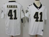 Mens Nfl New Orleans Saints #41 Alvin Kamara White Nike Game Jersey