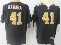 Mens Nfl New Orleans Saints #41 Alvin Kamara Black Nike Game Jersey