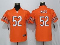 Women Youth Nfl Chicago Bears #52 Khalil Mack Orange Vapor Untouchable Limited Player Jersey