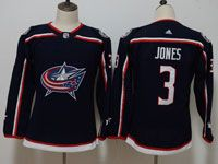 Youth Women Nhl Columbus Blue Jackets #3 Seth Jones Blue Adidas Jersey