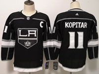 Womens Youth Adidas Los Angeles Kings #11 Anze Kopitar Black Home Jersey